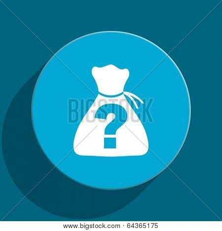 riddle blue flat web icon