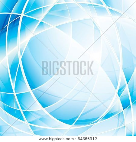 Abstract blue digital background. Raster.