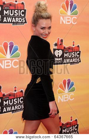 LOS ANGELES - MAY 1:  Hilary Duff at the 1st iHeartRadio Music Awards at Shrine Auditorium on May 1, 2014 in Los Angeles, CA