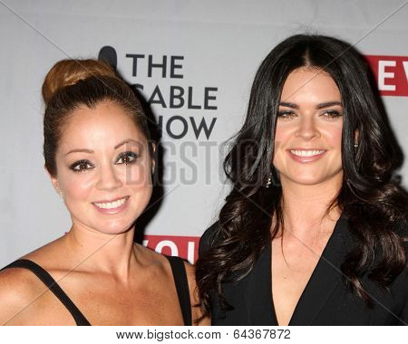 LOS ANGELES - APR 30:  Katie Lee, Marcela Valladolid at the NCTA's Chairman's Gala Celebration of Cable with REVOLT at The Belasco Theater on April 30, 2014 in Los Angeles, CA