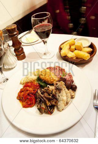 Antipasto In Restaurant