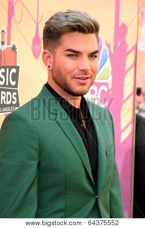 LOS ANGELES - MAY 1:  Adam Lambert at the 1st iHeartRadio Music Awards at Shrine Auditorium on May 1, 2014 in Los Angeles, CA