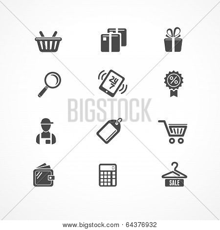 Vector Shopping icons black