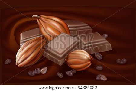 Chocolate And Cacao Pods