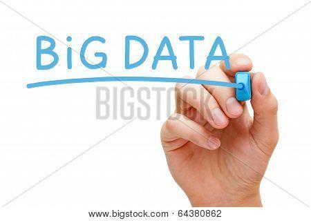 Big Data Blue Marker