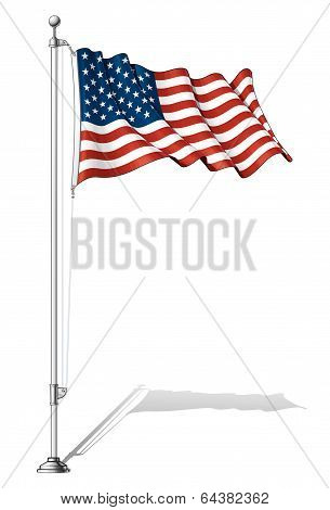 Flag Pole Usa.