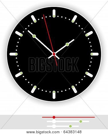 Clock Face Black
