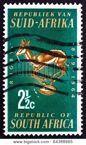 Postage Stamp South Africa 1964 Rugby Board Emblem