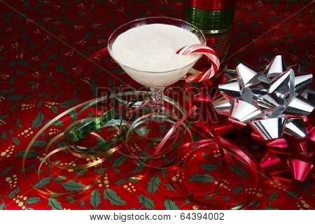 Eggnog with Christmas Paper