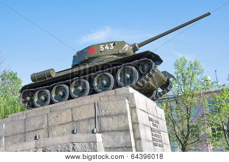 Russia. T34 Tank - A Monument To The Heroes Of The Great Patriotic War.