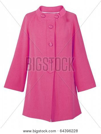 pink coat isolated on white
