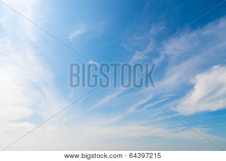 Stratus Clouds In Blue Sky