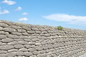 pic of sandbag  - Trenches of death world war one sandbags in Belgium - JPG