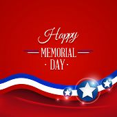 foto of memorial  - Happy Memorial day symbol red background - JPG