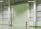 pic of roller door  - Shutter door or rolling door night scene - JPG