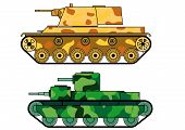 stock photo of panzer  - Armored tanks first and second World Wars - JPG
