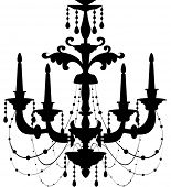 stock photo of chandelier  - Vector illustration of a Chandelier - JPG