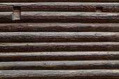 stock photo of log fence  - Abstract background of old logs - JPG