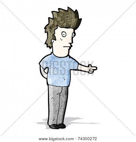 cartoon pointing man