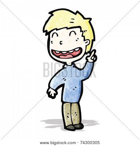 cartoon grinning boy