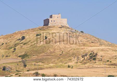 Monteserico Castle. Genzano di Lucania. Southern Italy.
