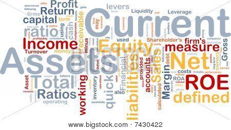 Current Assets Background Concept