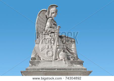 Monument Of Woman, France, Paris,  Sitting Warrior