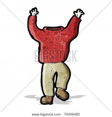 cartoon headless man