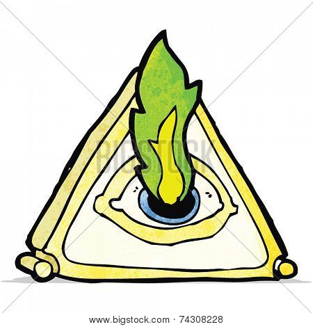 all seeing eye cartoon