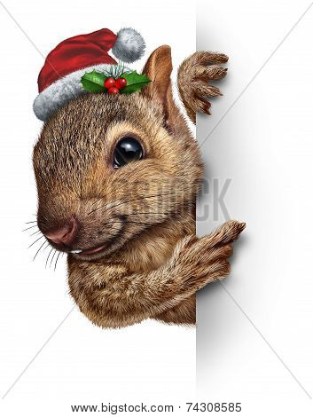 Holiday Squirrel Vertical