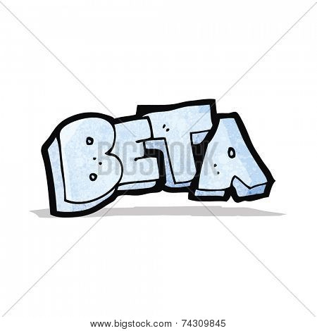 cartoon beta word symbol