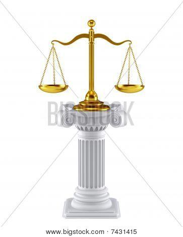 Scale concept symbol
