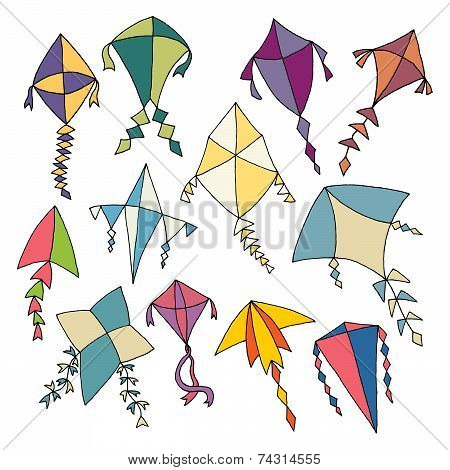 Hand Drawn Kites