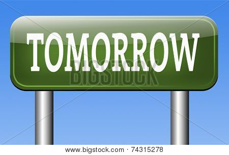 tomorrow schedule next day banner, coming soon  what will the future bring a new beginning