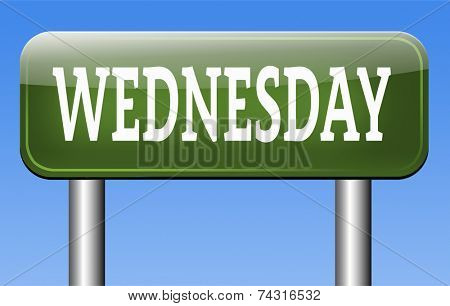 wednesday next day schedule concept for appointment or event in agenda