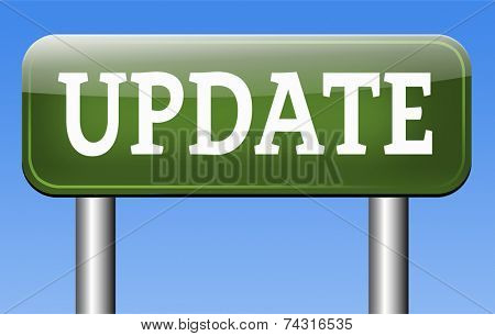 Update  updating software now and here to the latest newest version or new edition