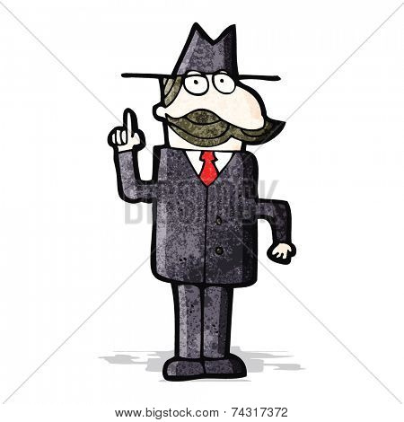 cartoon detective solving case