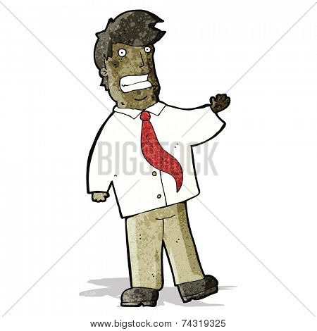 cartoon grinning salesman