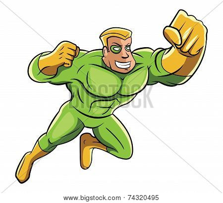 Green Super Hero