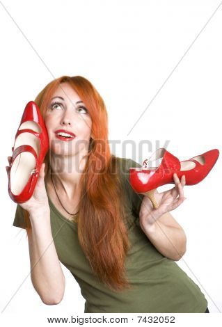 Pretty Woman With Shoes