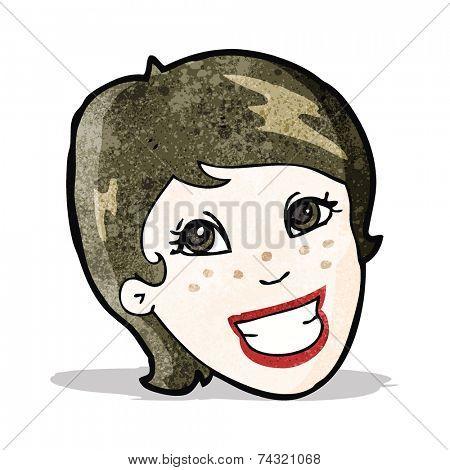 cartoon advert girl