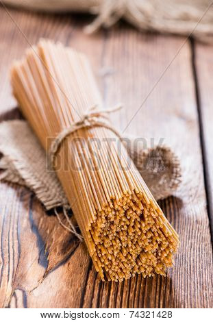 Portion Of Wholemeal Spaghetti