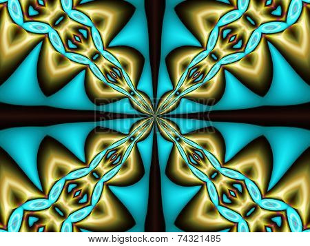 Green texture, geometric effect, broken lines