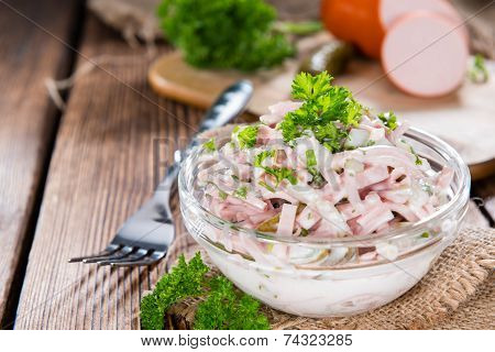 Portion Of Meat Salad (with Mayonnaise)