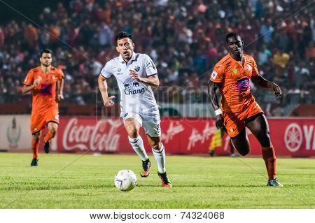 Sisaket Thailand-october 15: Javier Patino Of Buriram Utd. In Action During Thai Premier League Betw