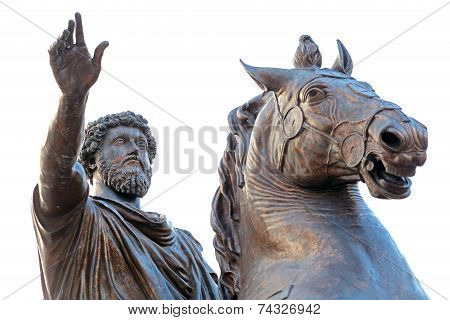 Marcus Aurelius At The Campidoglio In Rome, Italy