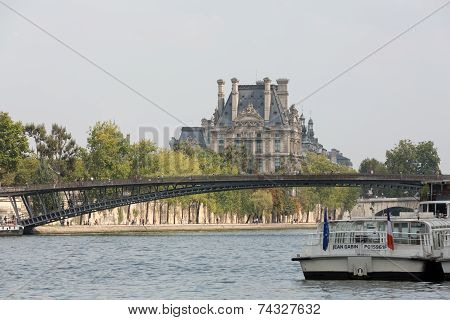 Solferino bridge on Seine river in Paris France