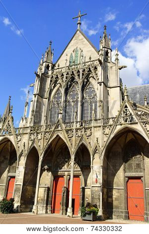 Saint-urbain Basilica In Troyes, France
