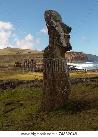 Easter Island Moai Coast