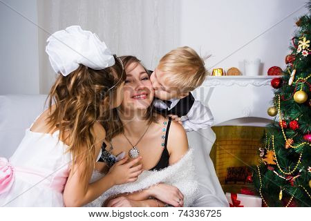 Kisses For Darling And Gentle Mother